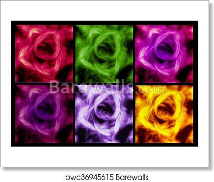 Abstract Rose Flower Background Beautiful Banner Wallpaper Design Illustration Art Print Barewalls Posters Prints Bwc36945615