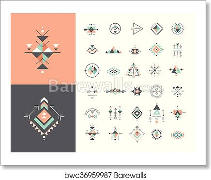 Art Print Of Esoteric Alchemy Sacred Geometry Tribal And Aztec