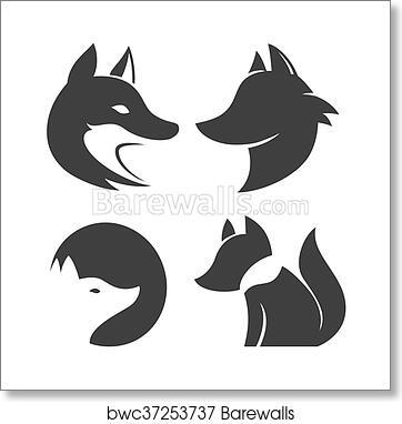 Stylized Fox Head Icon Vector Art Print Barewalls Posters Prints Bwc37253737