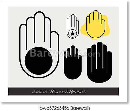 Art Print Of Religious Jainism Symbol Barewalls Posters Prints
