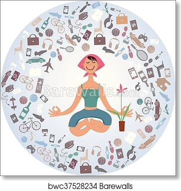 Inner Peace Meditation Art print