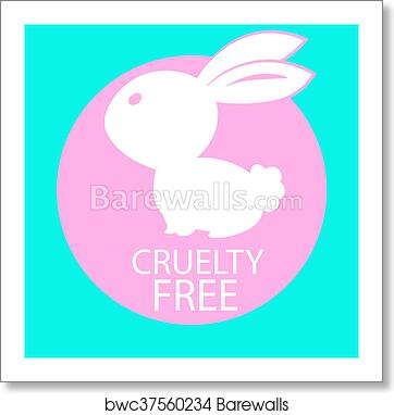 Art Print Of Animal Cruelty Free Icon Design Animal Cruelty Free