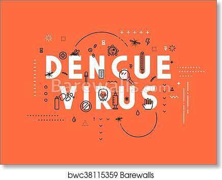 Design Concept Virus Of Dengue, Art Print