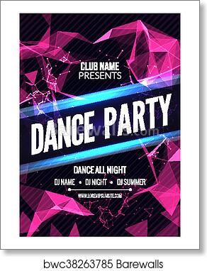 Modern Club Music Party Template Dance Party Flyer Brochure Night Party Club Sound Banner Poster Art Print Barewalls Posters Prints Bwc38263785