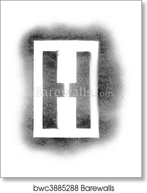 Art print of stencil letters in spray paint barewalls posters art print of stencil letters in spray paint spiritdancerdesigns Images