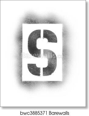 Stencil Letters In Spray Paint Art Print Poster