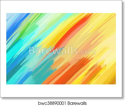 art print of digital painting abstract background barewalls