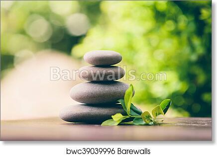 Balancing Pebble Zen Stones Outdoor Art Print Barewalls Posters