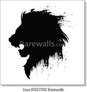 3aef1cd6a Lion head tattoo, Art Print | Barewalls Posters & Prints | bwc39257392