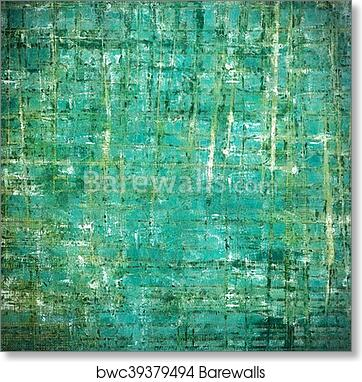 Art Print Of Vintage Decorative Background Antique Grunge Texture With Different Color Patterns Yellow Beige Green Blue Gray White Cyan