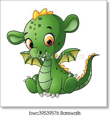 Cute Baby Dragon Art Print Barewalls Posters Prints Bwc39539576