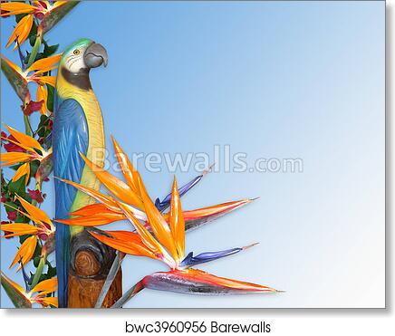 Art Print Of Luau Invitation Tropical Background Barewalls Posters