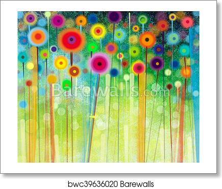 Abstract Flower Watercolor Painting Art Print Home Decor