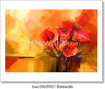Art print of abstract oil painting still life of red poppy flower art print of abstract oil painting still life of red poppy flower mightylinksfo
