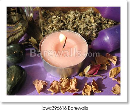 Wiccan herbs art print poster