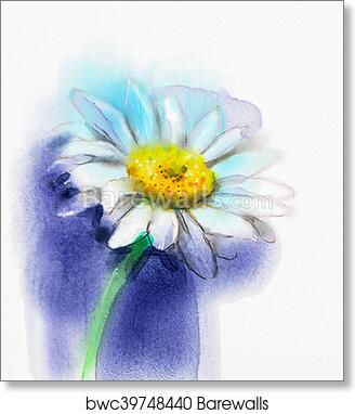 Flower Painting Watercolor Art Print