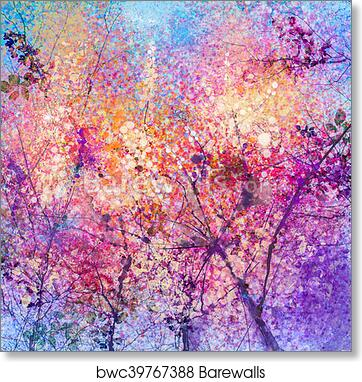 Art print of abstract cherry blossom flower watercolor painting art print of abstract cherry blossom flower watercolor painting background mightylinksfo