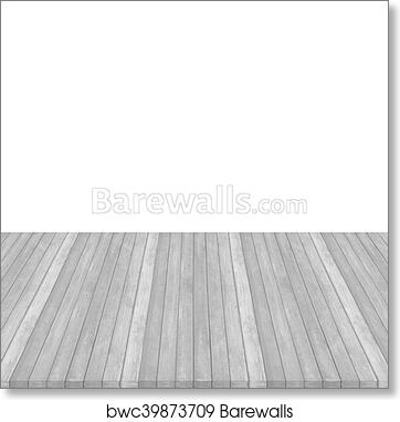 Wooden Floor Texture Background On White Pink Pastel Colour Perspective Art Print Barewalls Posters Prints Bwc39873709