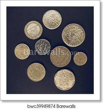 Vintage French Franc Coin Art Print