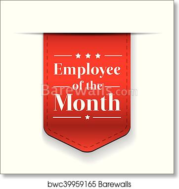 art print of employee of the month award ribbon barewalls posters