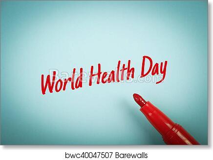 Art Print Of World Health Day