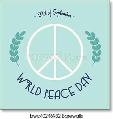 Art Print Of World Peace Day 21 Of September Barewalls Posters