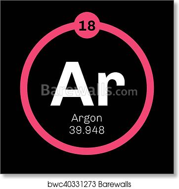 Art print of argon chemical element barewalls posters prints belongs to noble gases group of the periodic table neon is a colorless odorless and inert gas urtaz Gallery