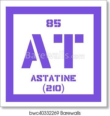 Art Print Of Astatine Chemical Element Barewalls Posters Prints