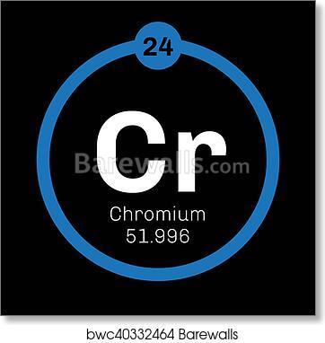 Art Print Of Chromium Chemical Element Barewalls Posters Prints