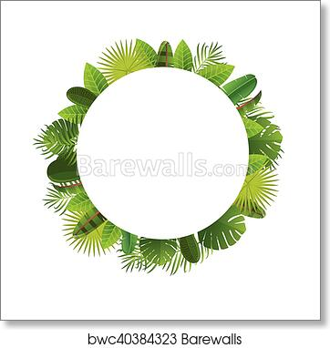 Tropical Leaves Frame Floral Jungle Design Background Palm Banana Frangipany Monstera Strelitzia Art Print Barewalls Posters Prints Bwc40384323 Find & download free graphic resources for tropical leaves. tropical leaves frame floral jungle design background palm banana frangipany monstera strelitzia art print poster