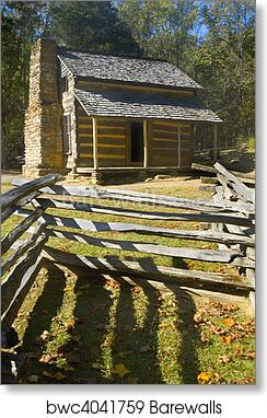 Art Print Of Log Cabin Cades Cove Great Smoky Mountains National