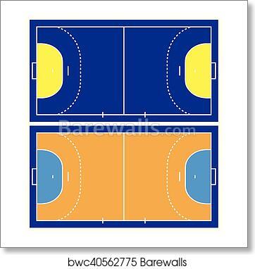 Handball Court Art Print Barewalls Posters Prints Bwc40562775