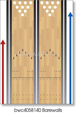 picture relating to Printable Bowling Lane Diagram named Bowling Lane Diagram Print - Catalogue of Schemas