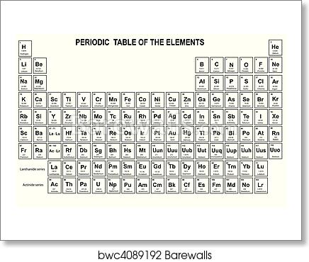 Art Print Of Periodic Table Of The Elements Barewalls Posters