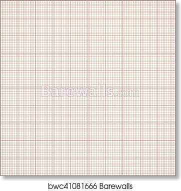 art print of graph seamless millimeter grid paper vector