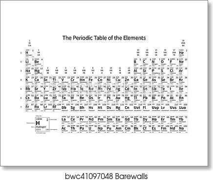 Art print of black and white monochrome periodic table of the art print of black and white monochrome periodic table of the elements urtaz Image collections