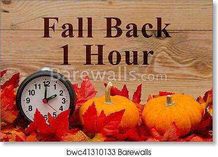 It is time to fall back message art print poster