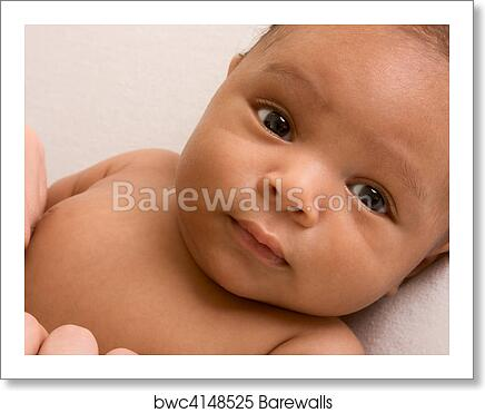 art print of ethnic baby boy lying down barewalls posters prints