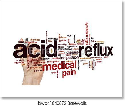 Acid reflux word cloud concept art print poster