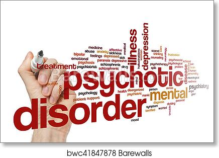 Psychotic Disorder Word Cloud Concept Art Print Barewalls Posters