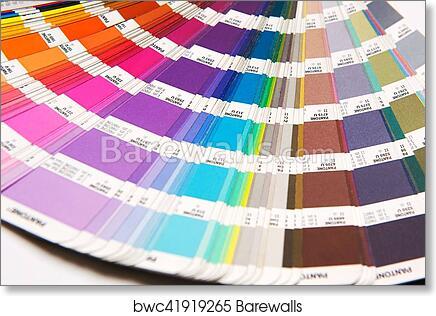 Art Print Of Opened Pantone Color Chart Barewalls Posters Prints
