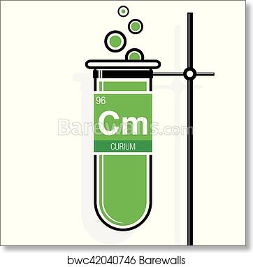 Art print of curium symbol on label in a green test tube with holder art print of curium symbol on label in a green test tube with holder element number 96 of the periodic table of the elements chemistry urtaz Choice Image