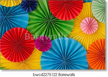 art print of colourful birthday celebration background wall with