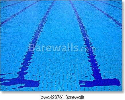 Swimming pool art print poster