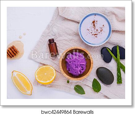 Homemade skin care and body scrub with