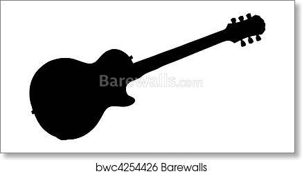 art print of electric guitar silhouette barewalls posters prints