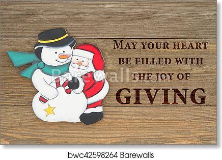 Christmas Giving.Old Fashion Christmas Giving Message Art Print Poster