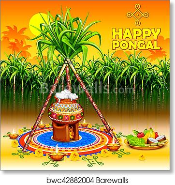 Art print of happy pongal greeting background barewalls posters art print of happy pongal greeting background barewalls posters prints bwc42882004 m4hsunfo Choice Image