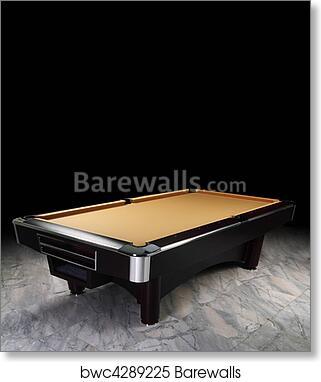 Art Print Of Billiard Table
