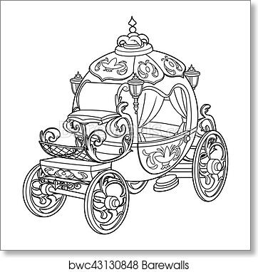Cinderella Carriage Coloring Page   Disney Family   382x362